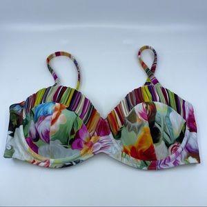 Ted Baker floral swirl padded bikini top 34 C/D